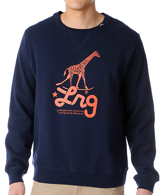 LRG Research Icon Navy Crew Neck Sweatshirt at Zumiez : PDP