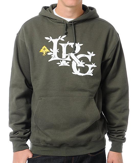 LRG Resolutionary Thinking Olive Green Pullover Sweatshirt