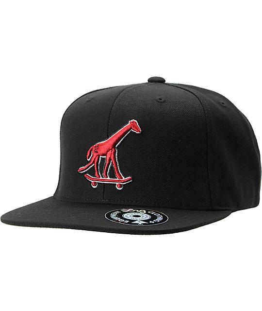 LRG Skate Giraffe Black Snapback Hat
