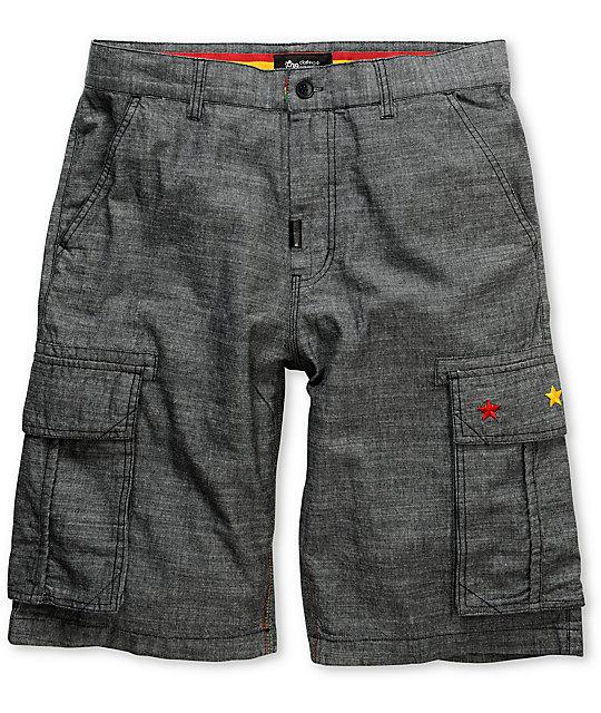 LRG Steady Rockin Black Cargo Shorts