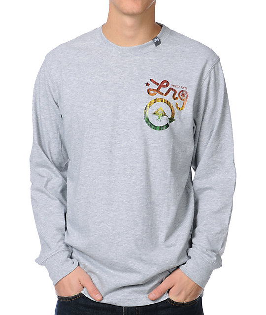 LRG Strictly 4 The Roots Long Sleeve Grey Shirt