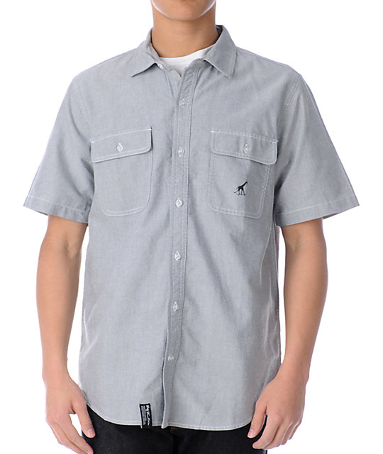 LRG Team Coach Grey Woven Shirt