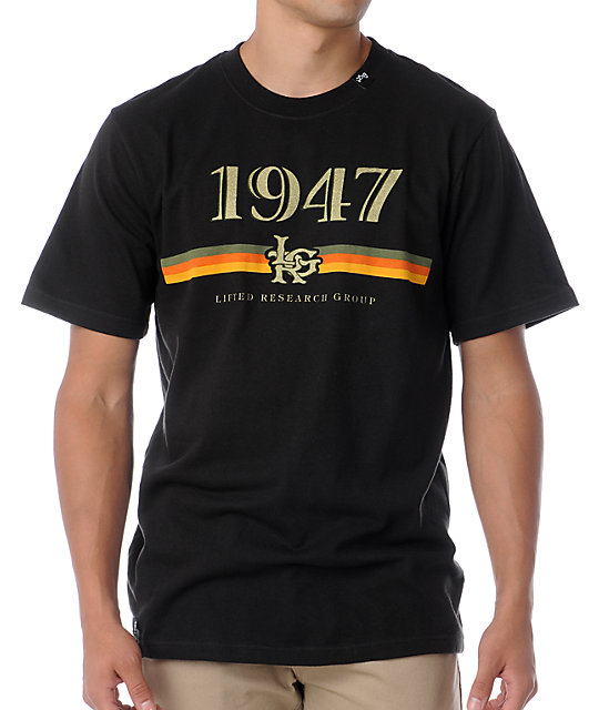 LRG The 1947 Stripes Black T-Shirt