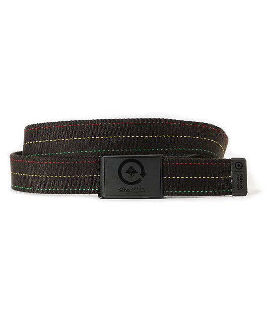 LRG Through Pro Black Rasta Belt