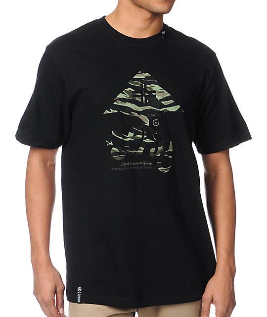 LRG Tiger Leaf Blammer Black T-Shirt