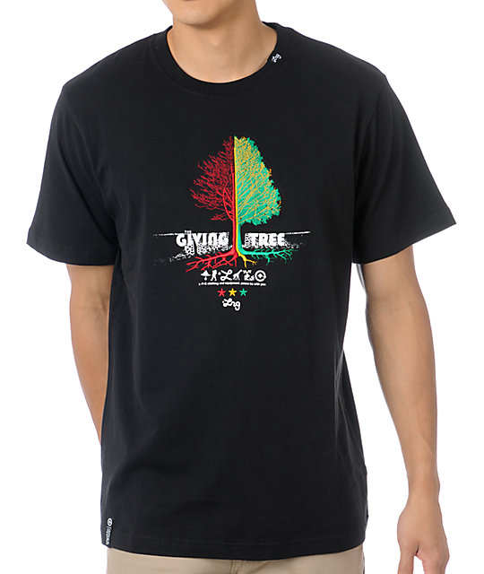 LRG Tree Giver Black Knit T-Shirt