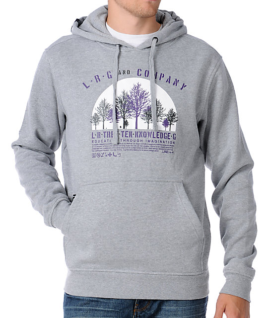 LRG Tree Tech Mens Grey Pullover Hoodie