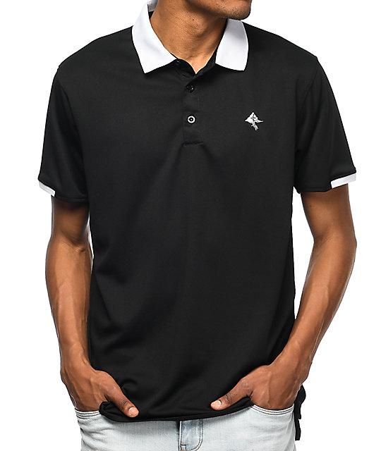LRG Varsity Team Black Polo Shirt