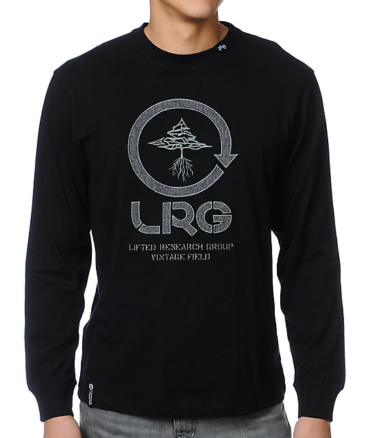 LRG Vintage Field Black Long Sleeve Shirt