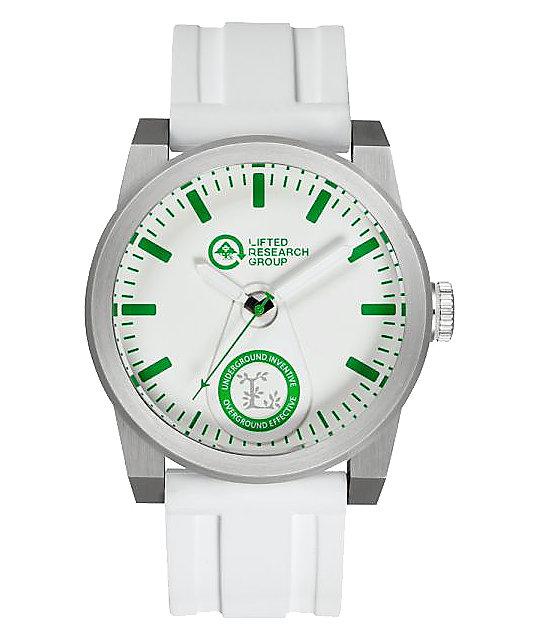 LRG Volt Silver & White Analog Watch