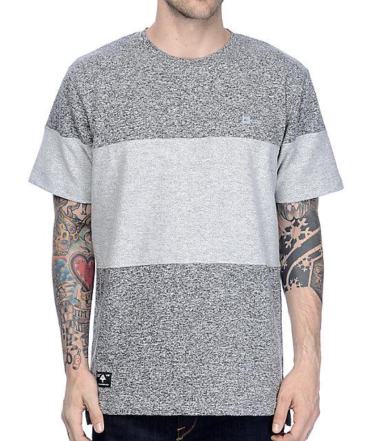 LRG Volver Knit Colorblock Grey T-Shirt