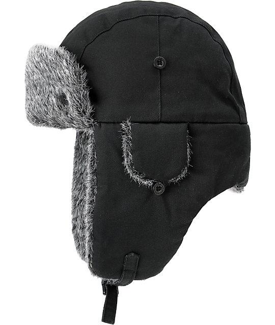 LRG Warm It Up Black Bomber Hat