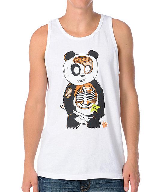 LRG Witnes Panda Anatomy White Tank Top