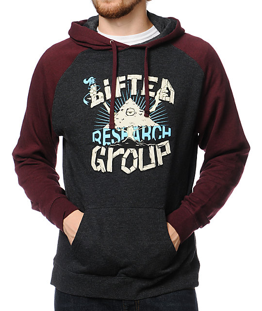 LRG Witness Research Burgundy & Black Pullover Hoodie
