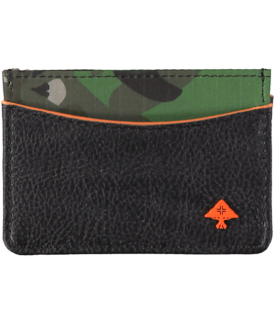 LRG Wolf Camo Tree Black Cardholder Wallet