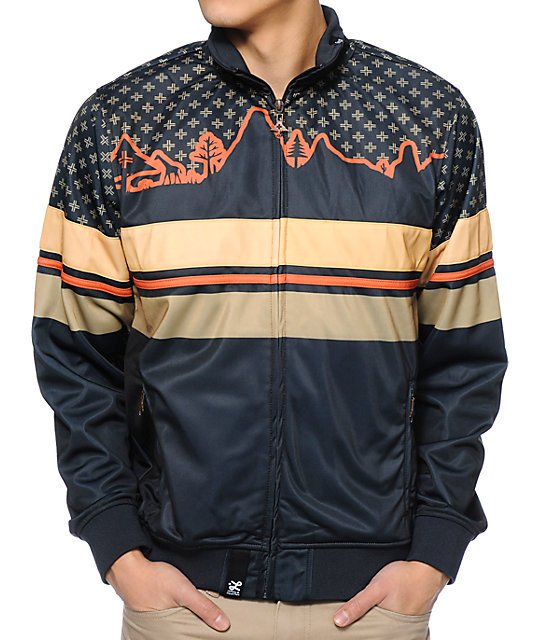 LRG Wonderland Black Track Jacket