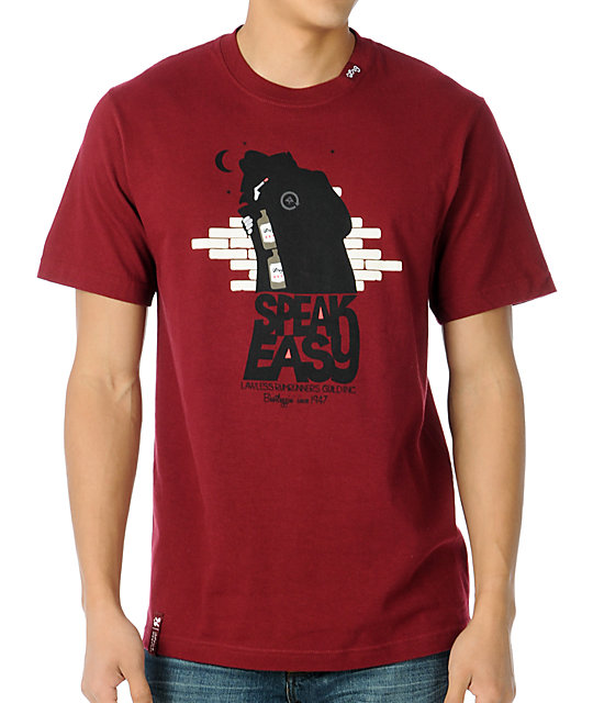 LRG Wordsmith Maroon T-Shirt