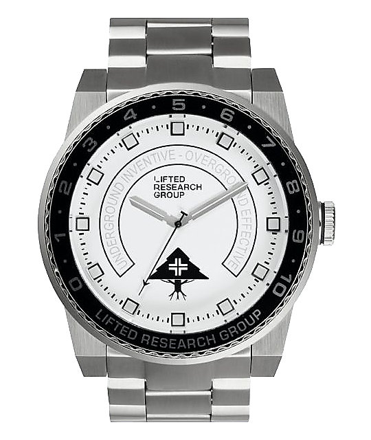 LRG Yacht White, Black, & Silver Analog Watch