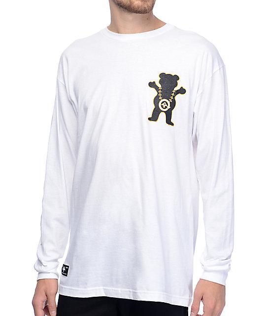 LRG x Grizzly Boss Bear White Long Sleeve T-Shirt