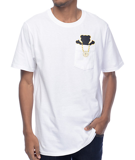 LRG x Grizzly Boss Bear White Pocket T-Shirt