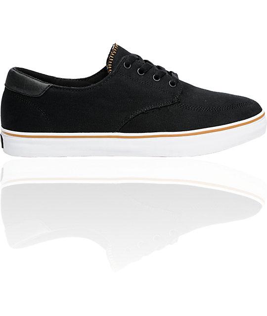 Lakai Belmont Black Canvas Shoes