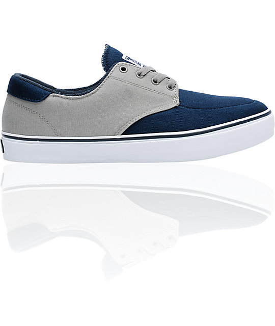 Lakai Belmont Navy & Grey Canvas Shoes