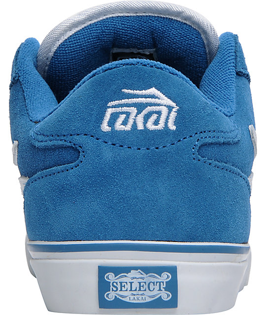 Lakai Boys Manchester Select Blue Suede Skate Shoes