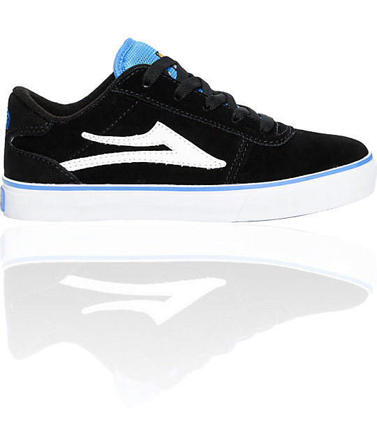 Lakai Boys Manchester Select Mo Knows Black & Royal Suede Shoes