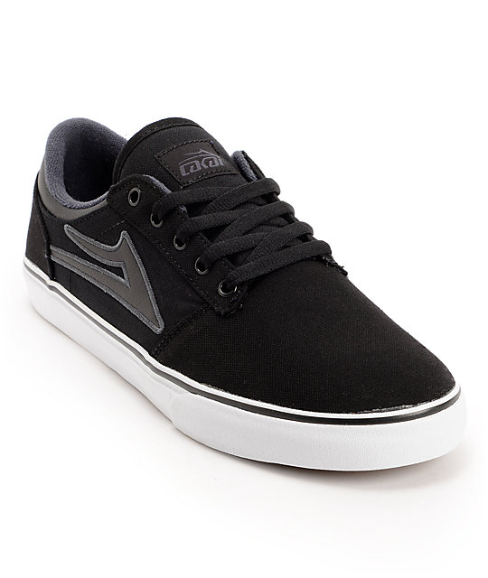 Lakai Brea Black & White Canvas Skate Shoes