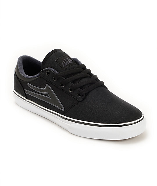Lakai Brea Black Canvas Skate Shoes
