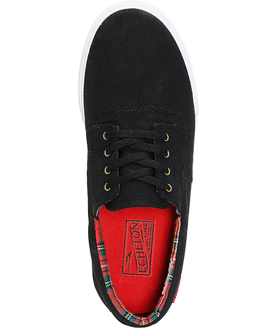 Lakai Camby Black & Plaid Canvas Skate Shoes