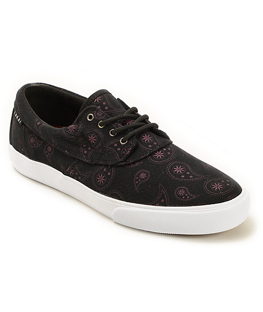 Lakai Camby Paisley Canvas Skate Shoes