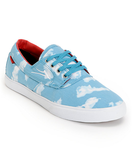 Lakai Camby x Quiet Life Clouds Blue & White Skate Shoes