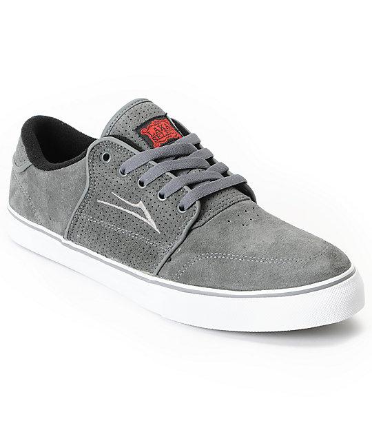 Lakai Carlo Charcoal Grey Suede Skate Shoes