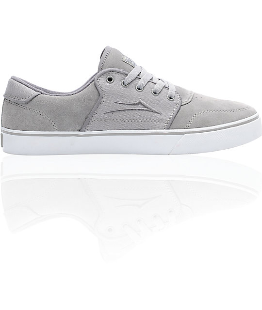 Lakai Carlo Grey Suede Skate Shoes