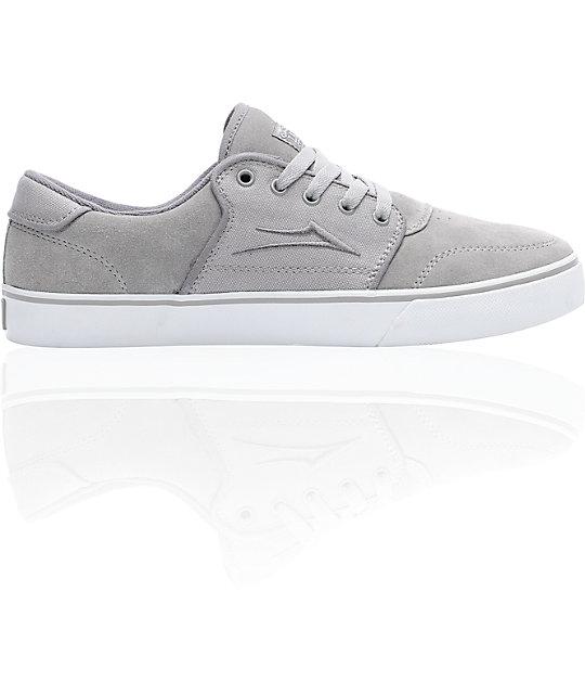 Lakai Carlo Grey Suede Skate Shoes