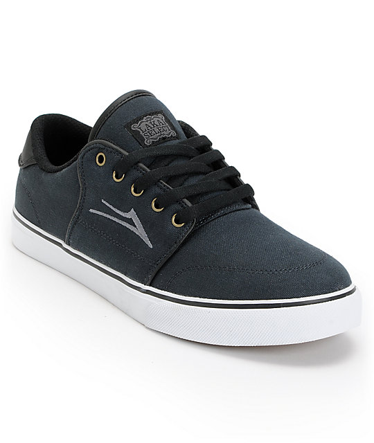 Lakai Carlo Phantom Black Canvas Shoes