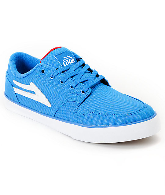 Lakai Carroll 5 Blue & Red Canvas Skate Shoes