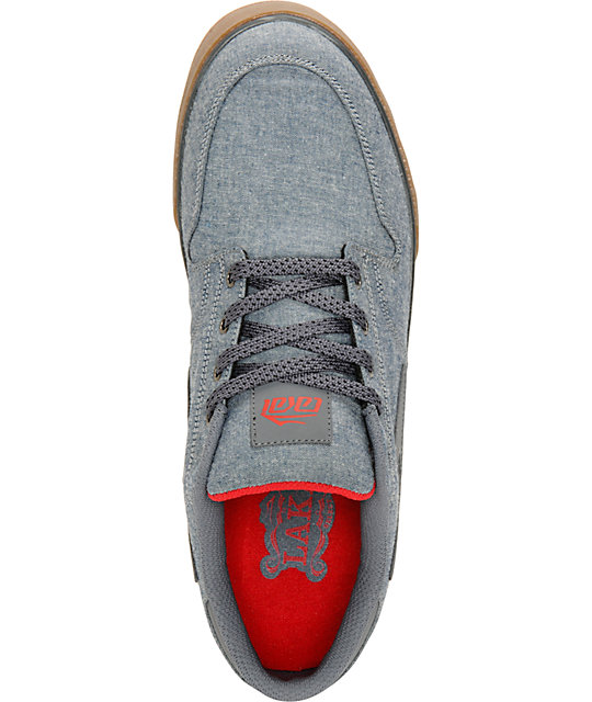 Lakai Carroll 5 Blue Chambray & Gum Skate Shoes