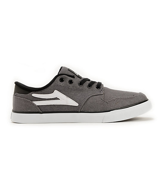 Lakai Carroll 5 Grey Canvas Skate Shoes