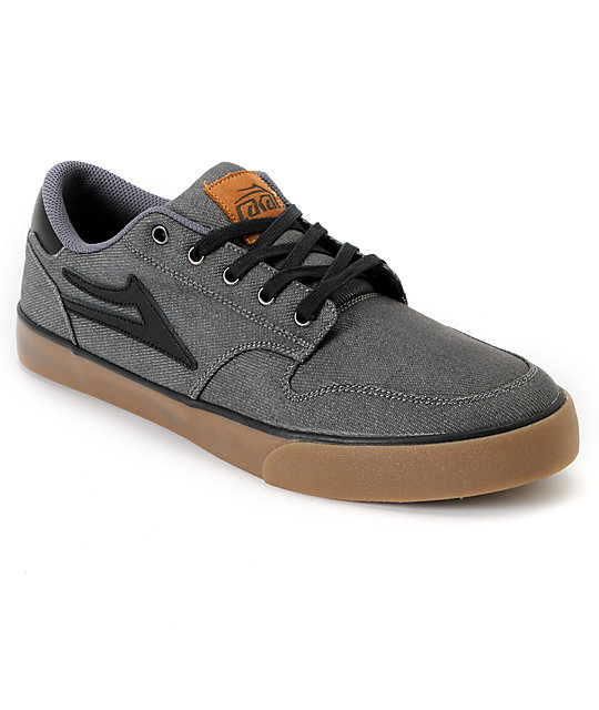 Lakai Carroll 5 Grey Denim Skate Shoes