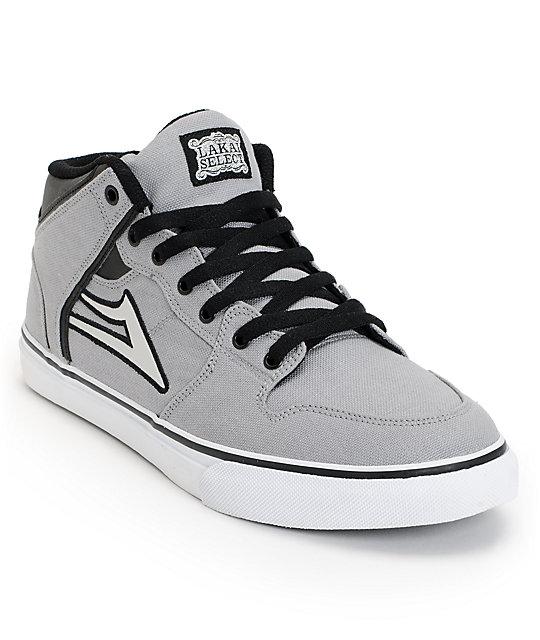 Lakai Carroll Select Grey & Black Canvas Skate Shoes