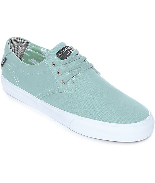 Lakai Daly Lichen & White Shark Printed Canvas Skate Shoes