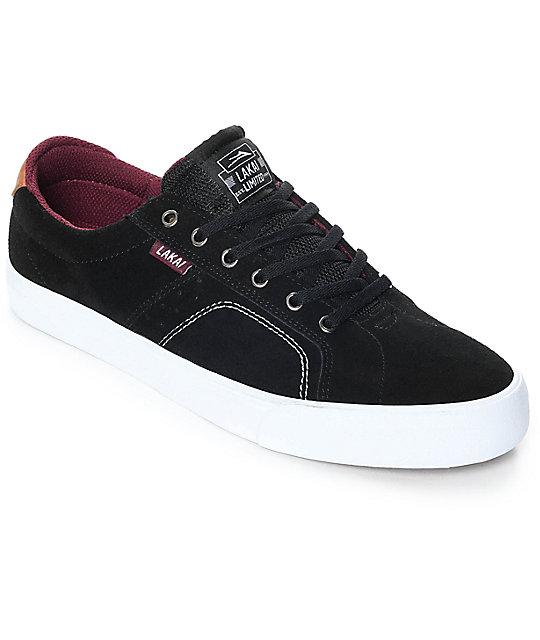 Lakai Flaco zapatos de skate de malla en blanco y negro