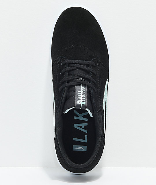 Lakai Griffin Black & Mint Suede Skate Shoes