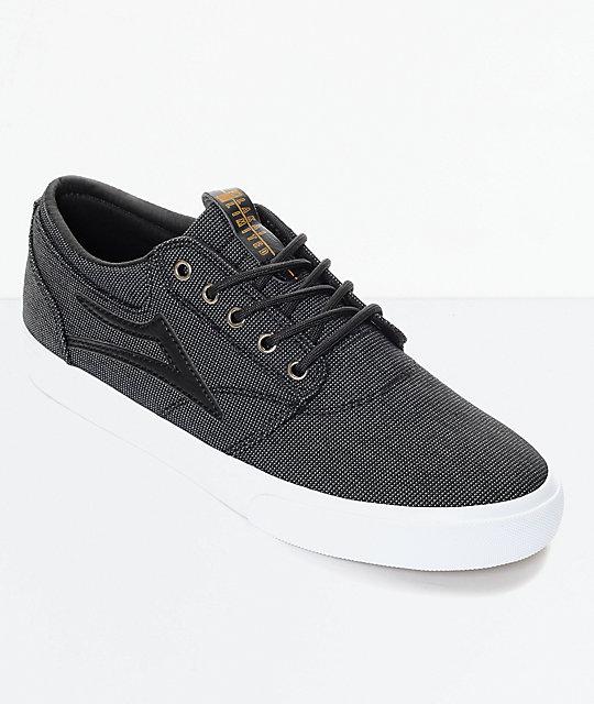 Lakai Griffin Black Textile & White Skate Shoes