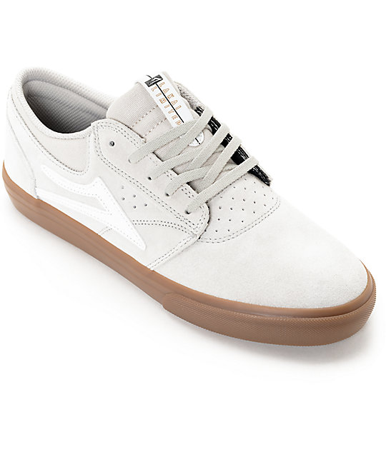 Lakai Griffin Cream & Gum Suede Skate Shoes