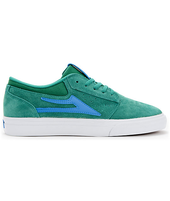 Lakai Griffin Green & Blue Suede Skate Shoes
