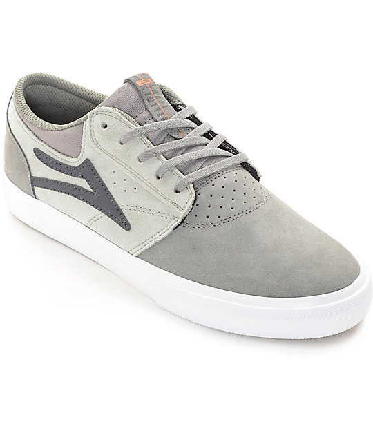Lakai Griffin Grey Suede Skate Shoes
