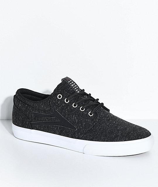 Lakai Griffin Heather Black & White Skate Shoes